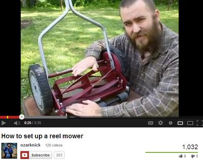 Reel mower tutorial